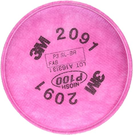 3M 07000 P100 Particulate 2091 Filter 3 Pairs
