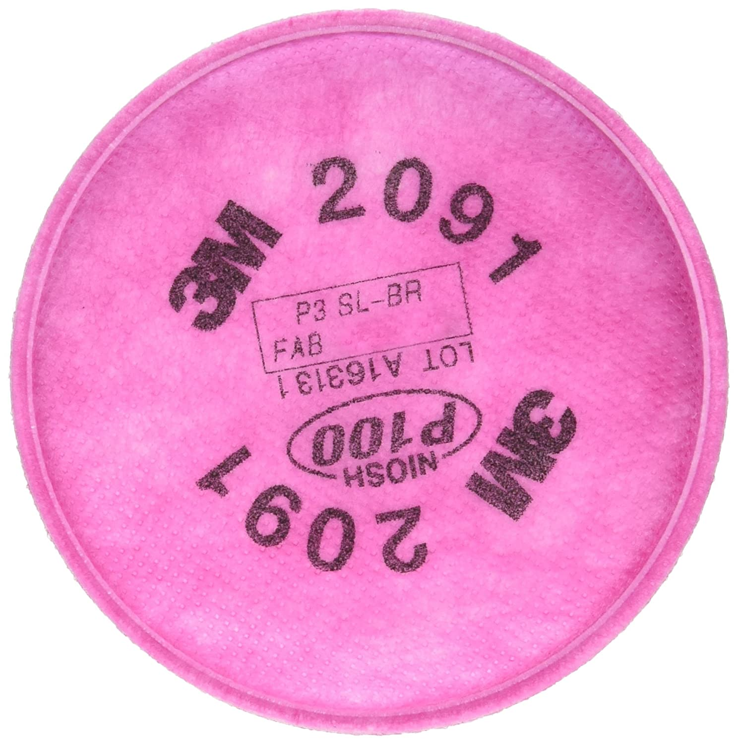 3M particulate filters P100 #2091/07000 , Pink, 2 Count