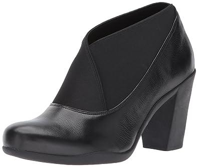 Clarks Women's Adya Luna Dress Pump, Black Leather, ...