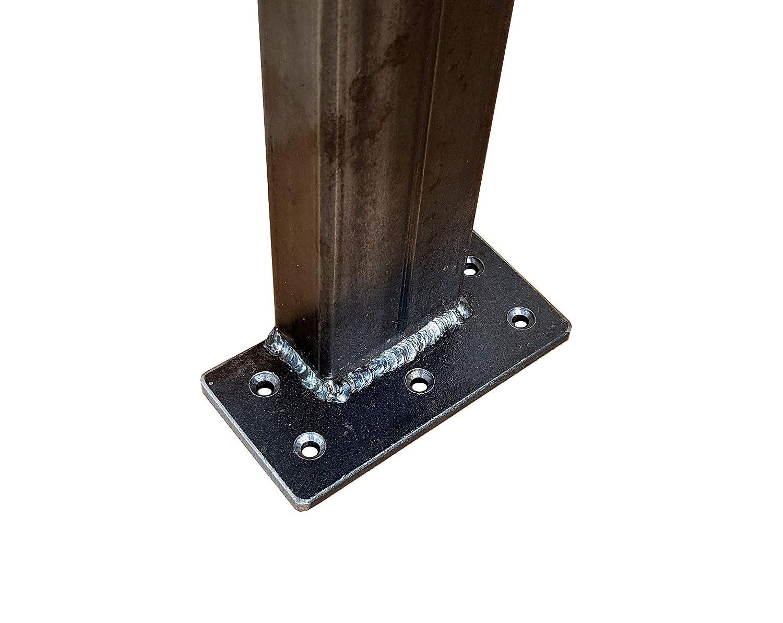Kufengestell Tischgestell 300-400-720-60x30 Rahmentisch Tischuntergestell H/öhe - 720 mm, L/änge - 400 mm 2 St/ück CHYRKA/® Tischkufe 1 Paar