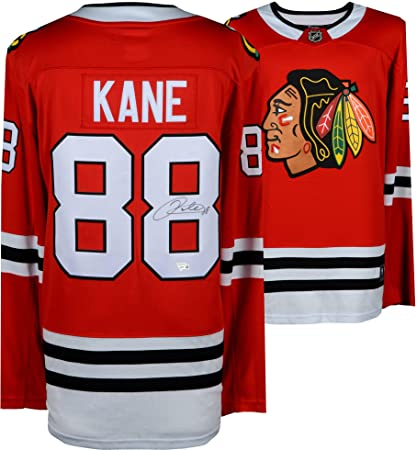 916bb6bc344 Patrick Kane Chicago Blackhawks Autographed Red Fanatics Breakaway ...