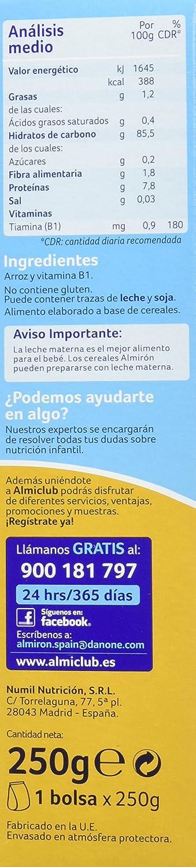 Almirón Advance Crema Arroz - 250 gr - Paquete de 7 x 250 gr - Total: 1750 gr: Amazon.es: Alimentación y bebidas