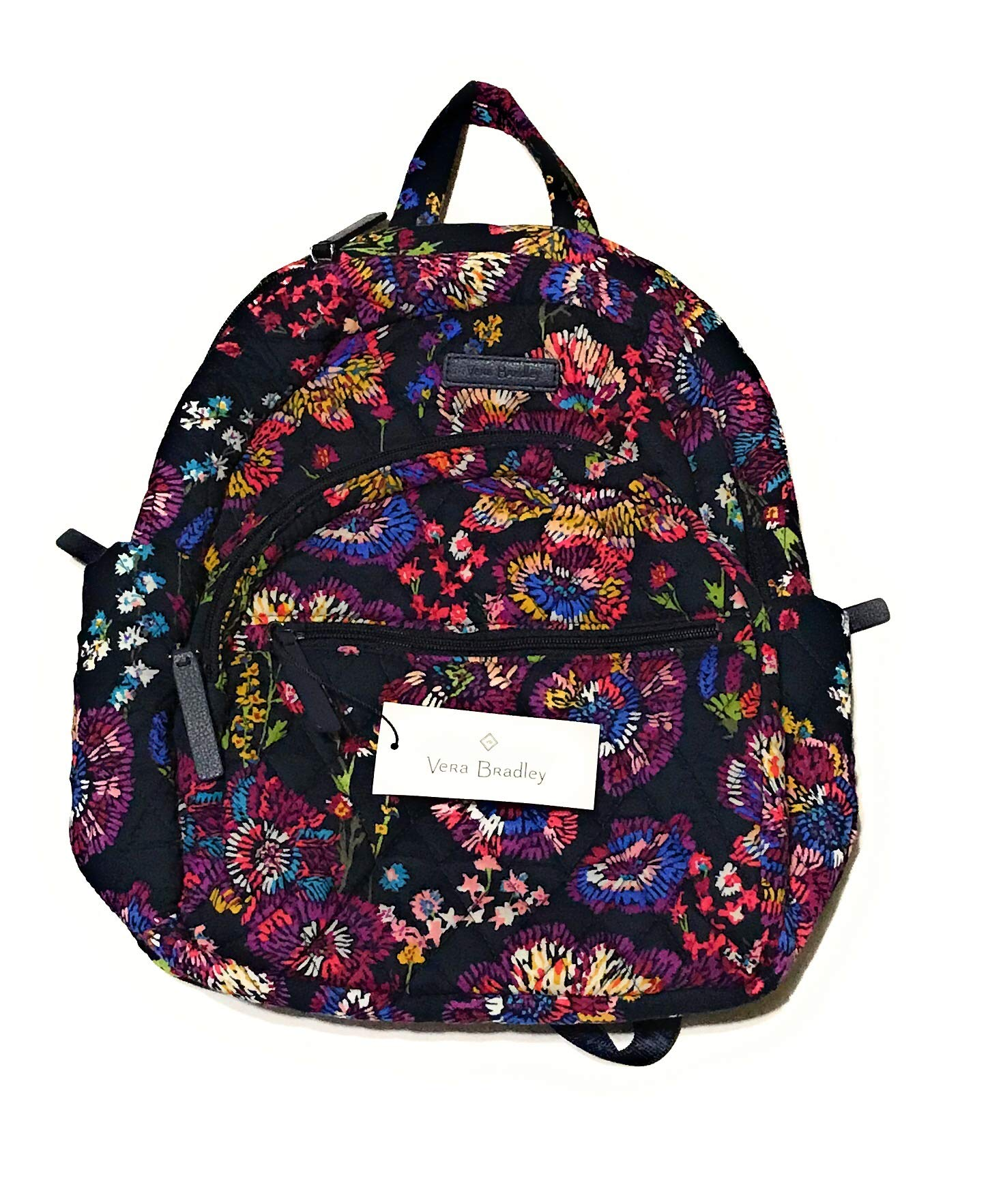 Vera Bradley Essential Compact Backpack - Midnight Wildflowers by Vera Bradley