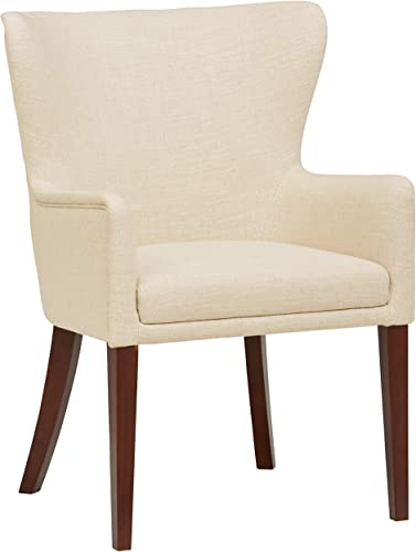 Stone Beam Wickstrom Upholstered Dining Chair, 37 H, Caribbean Sand Beige