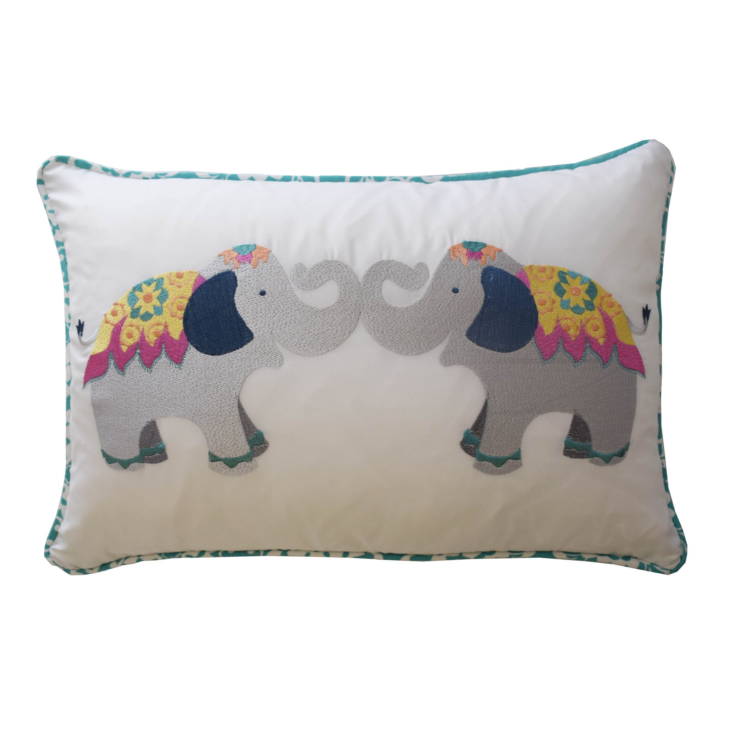 WAVERLY Kids Bollywood Decorative Pillow, Multicolor, 12 x 18