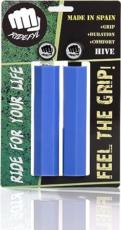 Ridefyl 11040 Puños de Bicicleta, Unisex-Adult, Azul, Talla única: Amazon.es: Deportes y aire libre