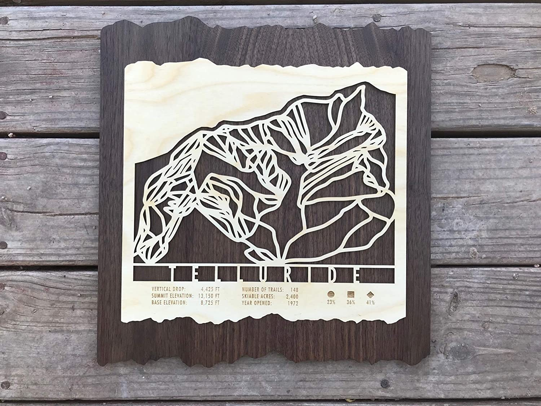 Amazon.com: Telluride Ski Trail Map 14\
