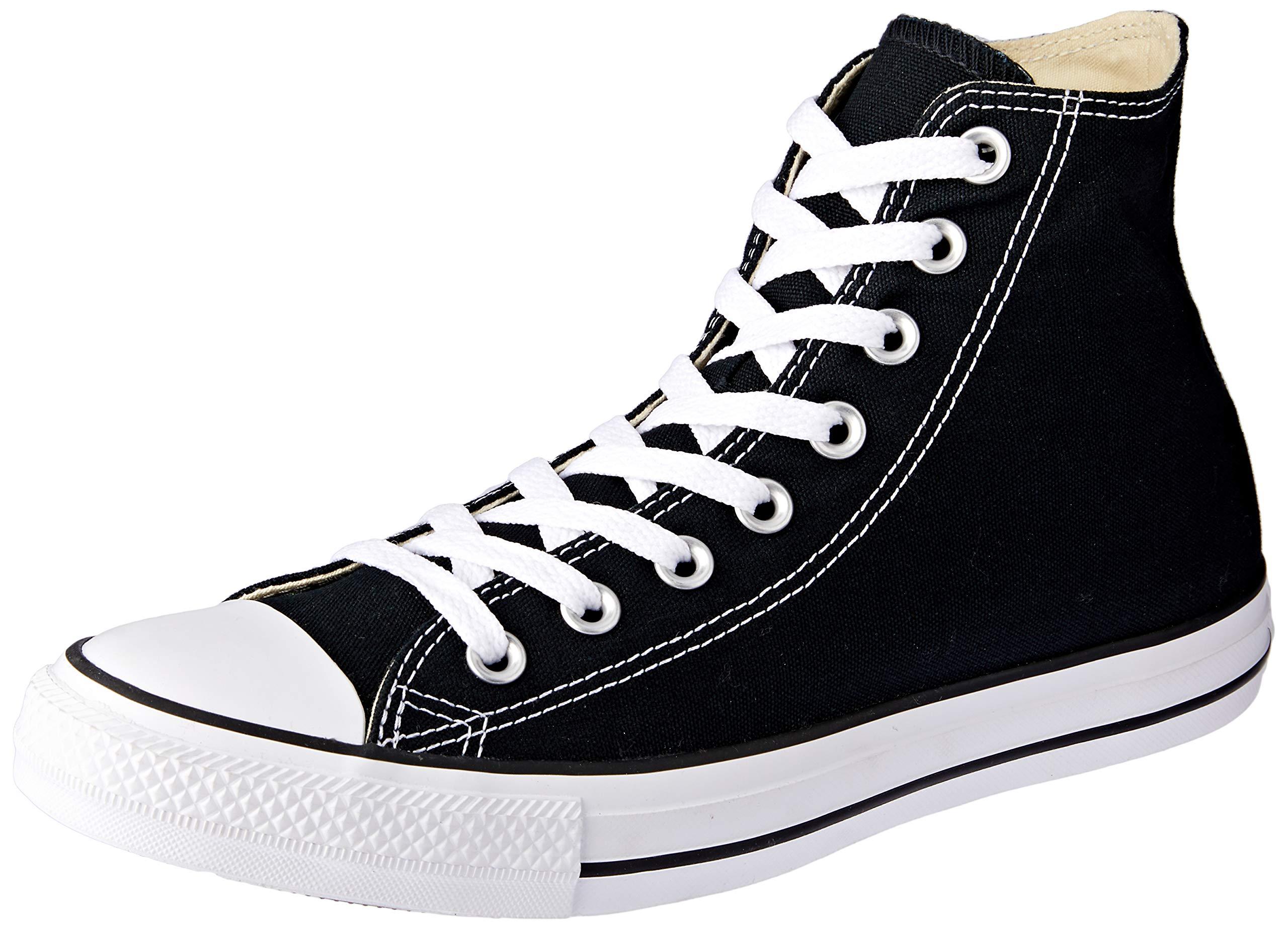 5a4d09d8e596 Converse Unisex Chuck Taylor All Star Hi Top Sneaker (7 B(M) US Women / 5  D(M) US Men, Black/White)