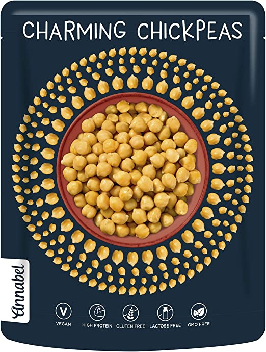 Annabel - Garbanzos naturales - comidas preparadas veganas - 7 paquetes de 225 g
