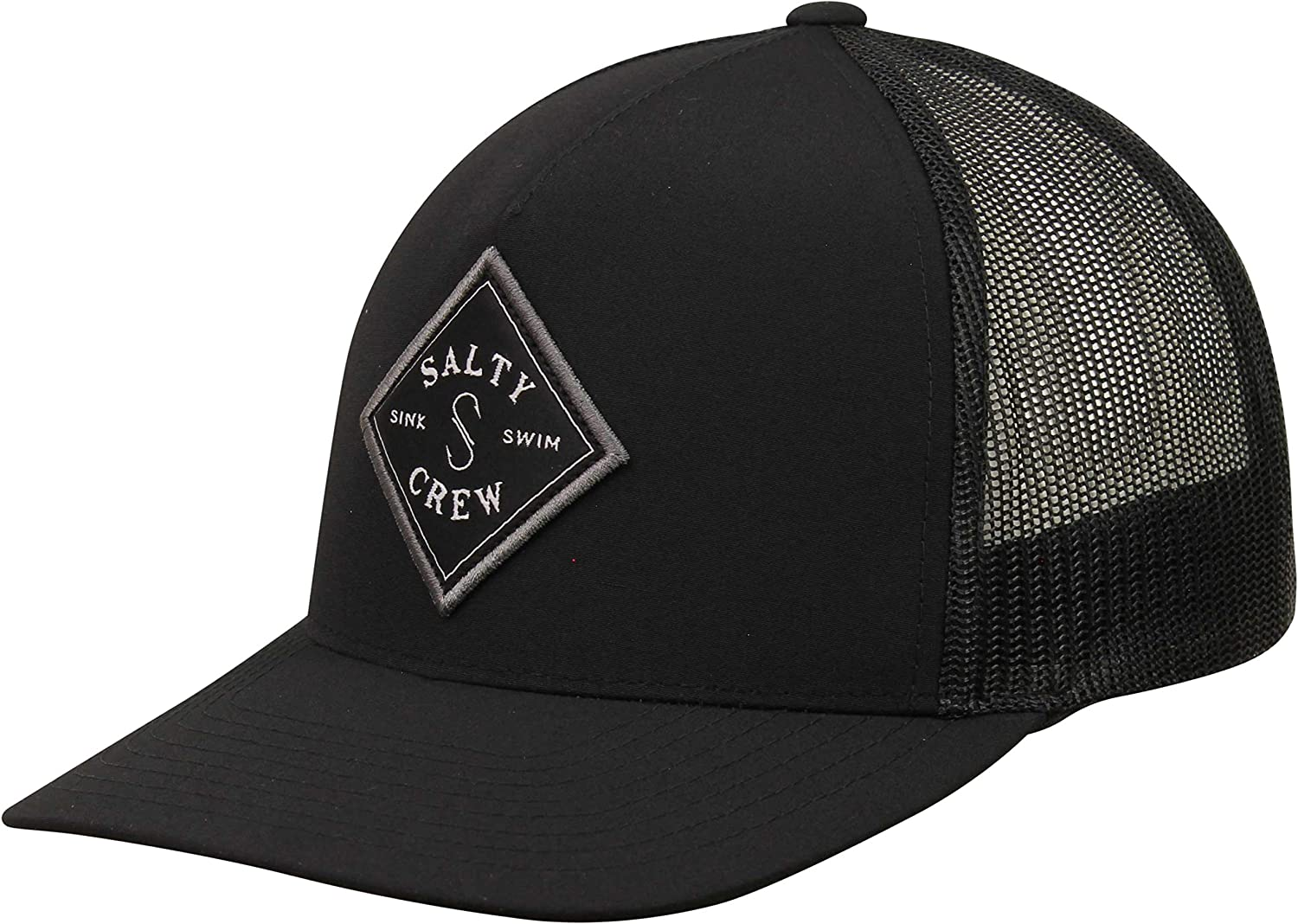 Black Salty Crew Sealine Retro Trucker Hat