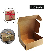 Kraft Papel Cajas de Regalo (Pack de 20) - 13x12x5cm Kraft Marrón Cajas de