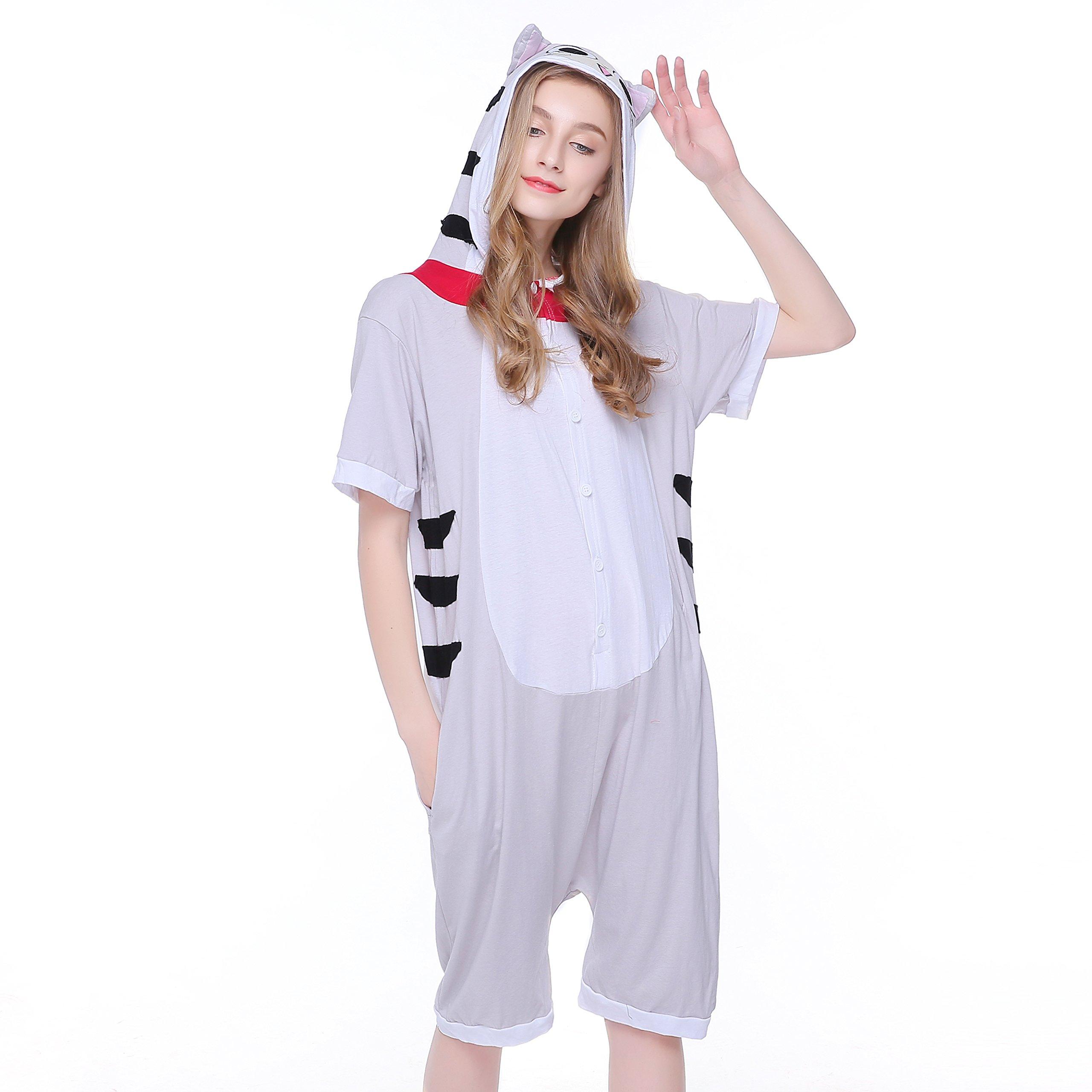 kxry Cat Cartoon Costume Unisex Adult Cosplay Pajamas Onesies Summer (X-Large)