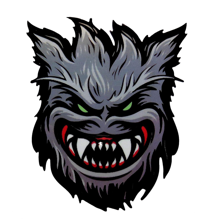 VATH Spitfire Flame Head Werewolf Sticker 60mmW x 72mmH / 2 7/8' H x 2 3/8' W [C57]