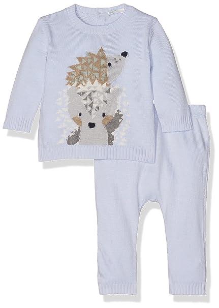 United Colors of Benetton Set Sweater+Trousers, Conjunto para Bebés, Azul (Blue
