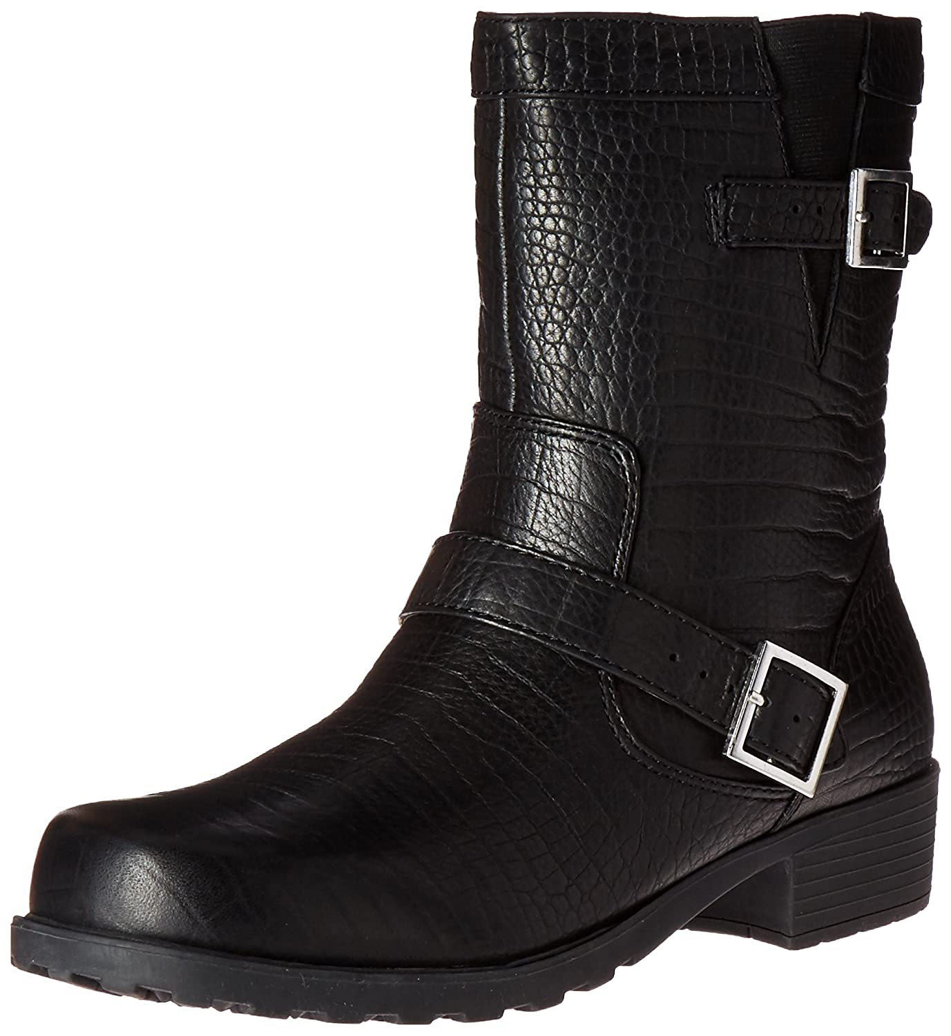 SoftWalk Women's Bellville Boot B00HQRFMJ4 6.5 N US|Black Lizard