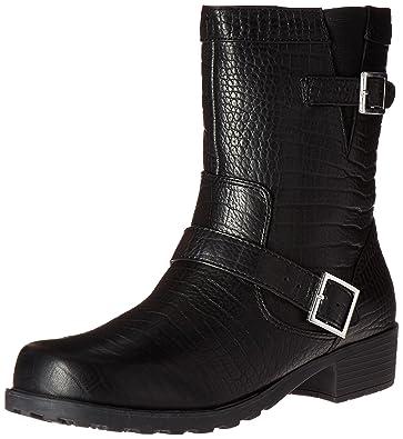 Softwalk Women's Bellville Boot,Black Lizard,5 ...
