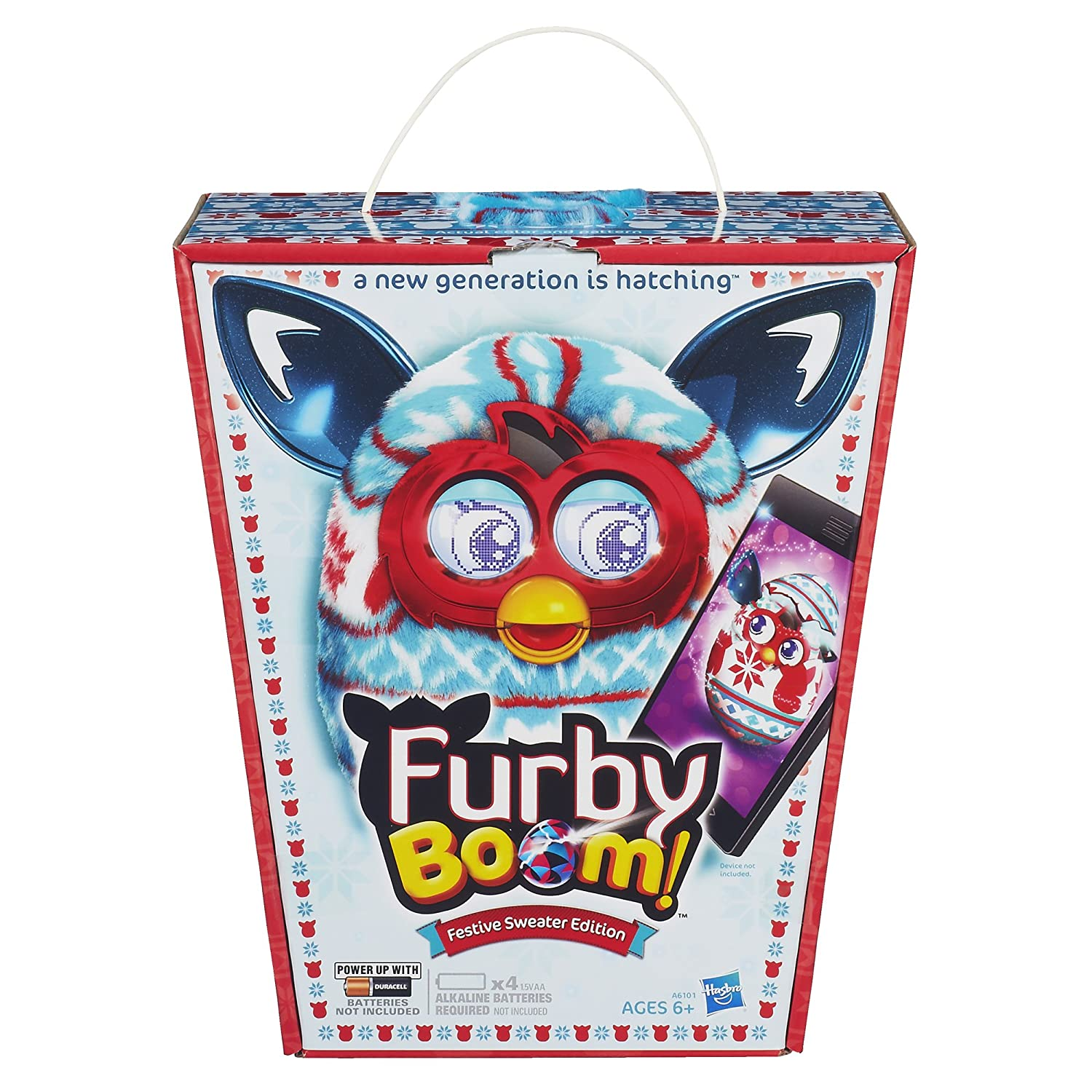 Furby Boom Plush Toy Holiday Sweater Edition A6101