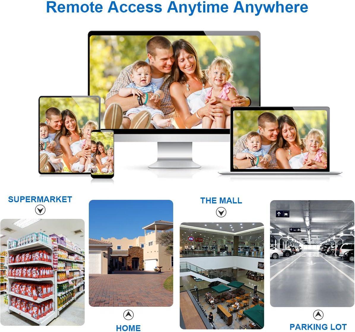 FLOUREON Cam/éra IP WiFi 1080P HD Double Lumi/ère Cam/éra de Surveillance Pan Tilt D/étection de Mouvement Humain D/éfense Active Vision Nocturne Audio Bidirectionnel Acc/ès /à Distance