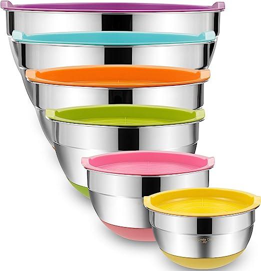 Amazon.com: Umite Chef - Juego de 6 cuencos de mezcla con ...