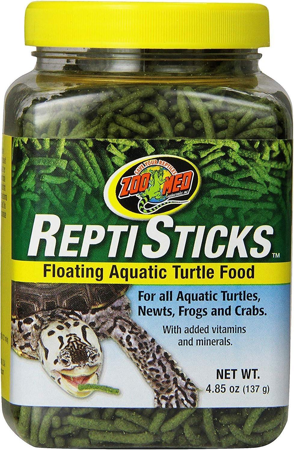 Zoo Med Reptisticks - Floating Aquatic Turtle Food 5 oz - Pack of 3