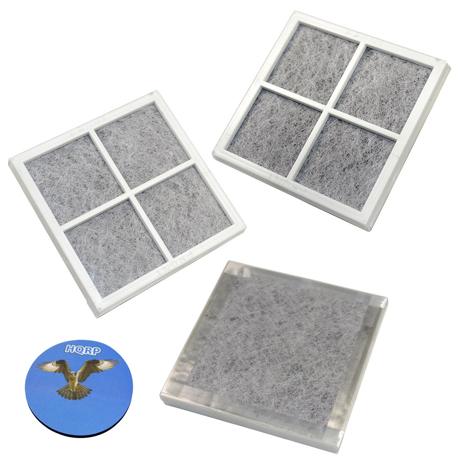 HQRP 3-pack Air Filters for Kenmore Elite Refrigerators 04609918000/469918 / 9918 Elite CleanFlow Replacement + HQRP Coaster