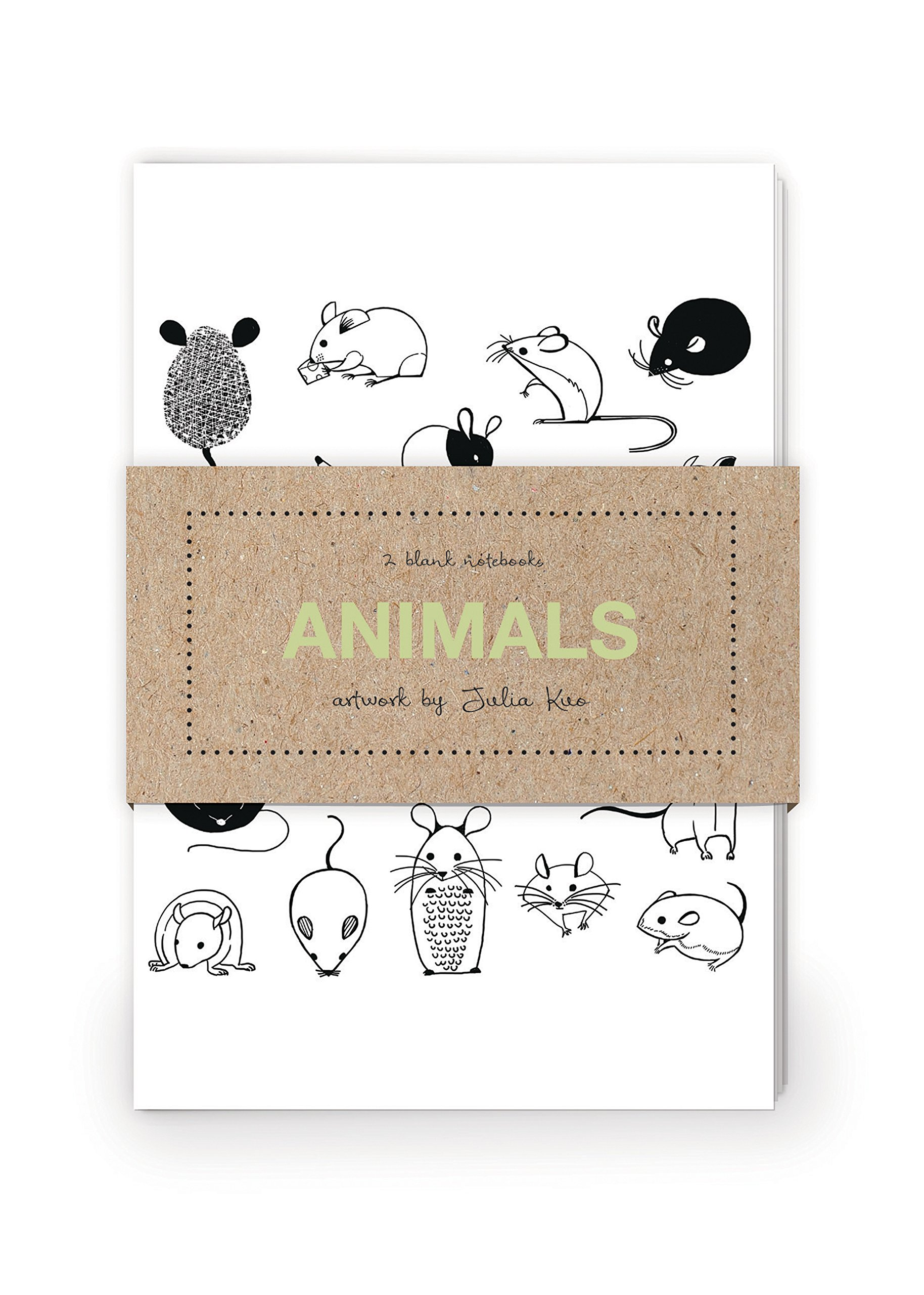 Animals Artwork by Julia Kuo Journal Collection 1: Set of two 64-page notebooks