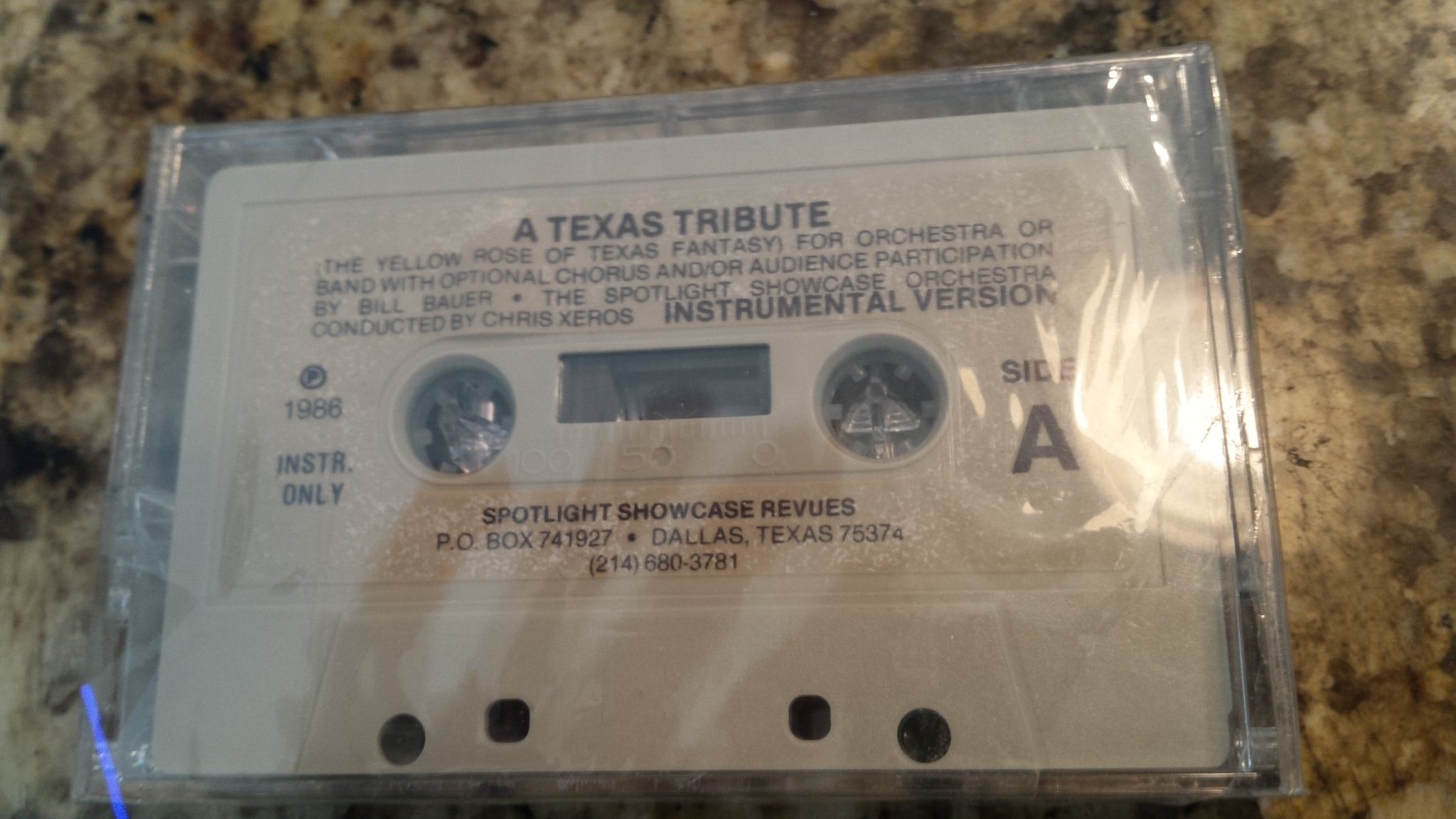 A Texas Tribute [Orchestral Yellow Rose of Texas Fantasy] with Voices, Audience Participation and Instrumental Versions 1986 by Spotlight Showcase