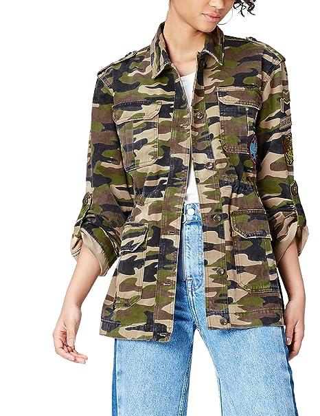FIND Camouflage con Giacca Abbigliamento Amazon it Donna Applicazioni wq4w8r