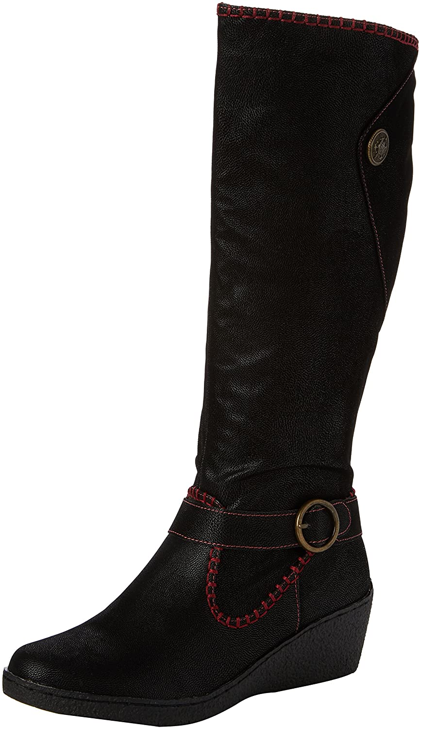 Joe Browns Distinctive Wedge Boots, Botas para Mujer42 EU|Negro (Black A)