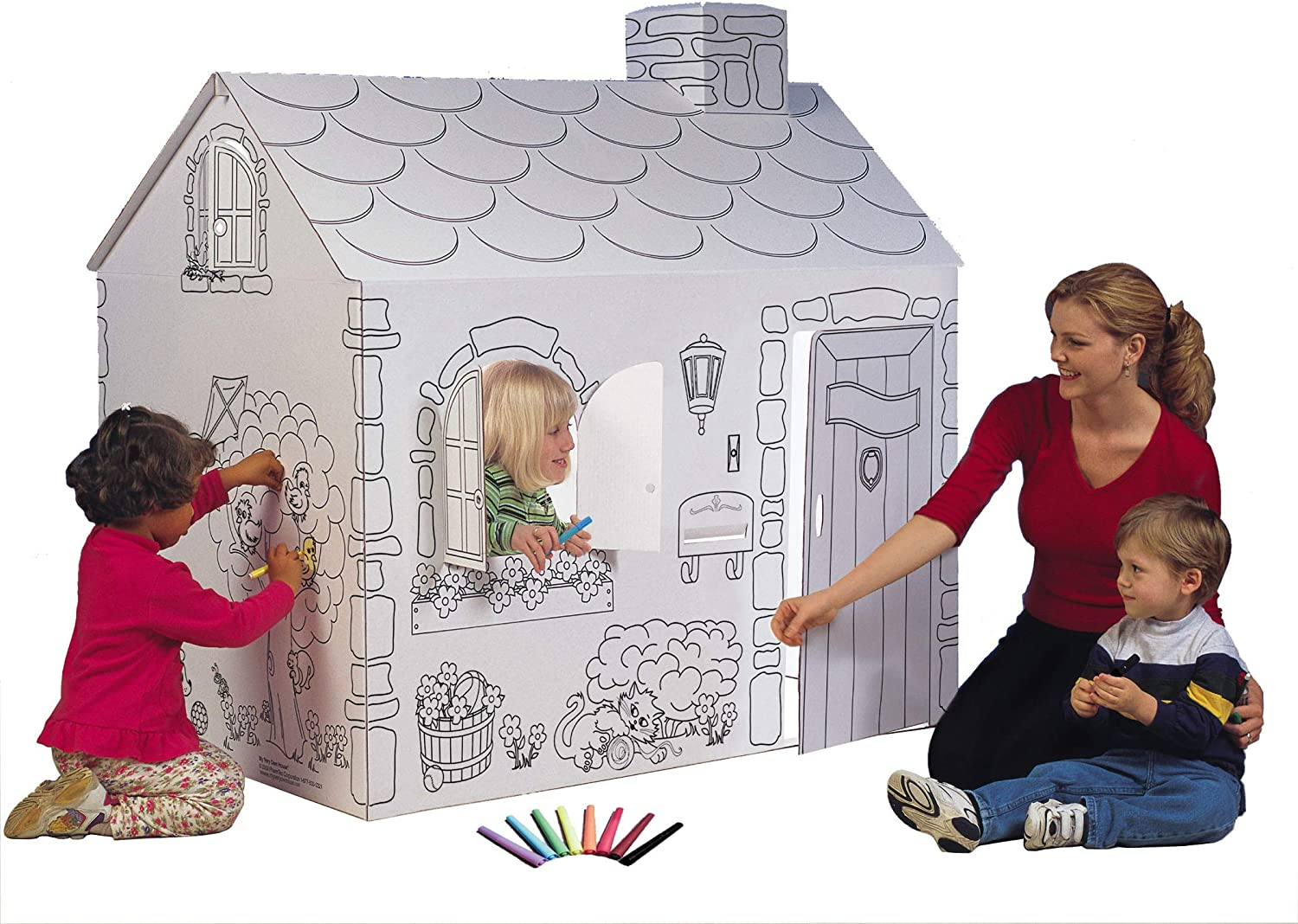 My Very Own House Cardboard Coloring Playhouse Cottage, 49\