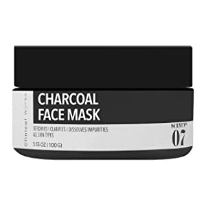 Clinical Works Charcoal Face Mask Scent No. 07,Wash Off Mask, Removes Dirt, Debris, Oils, Impurities and Blackheads, Fights Acne, Detoxifies, Unclogs and Purifies Skin, For all Skin Types, 3.53 Oz