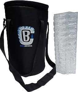 Home Brew Keg Cooler - Beer Cooler for 2.5G Mini Keg Cooler Bundle With Ice Sheet/Wrap
