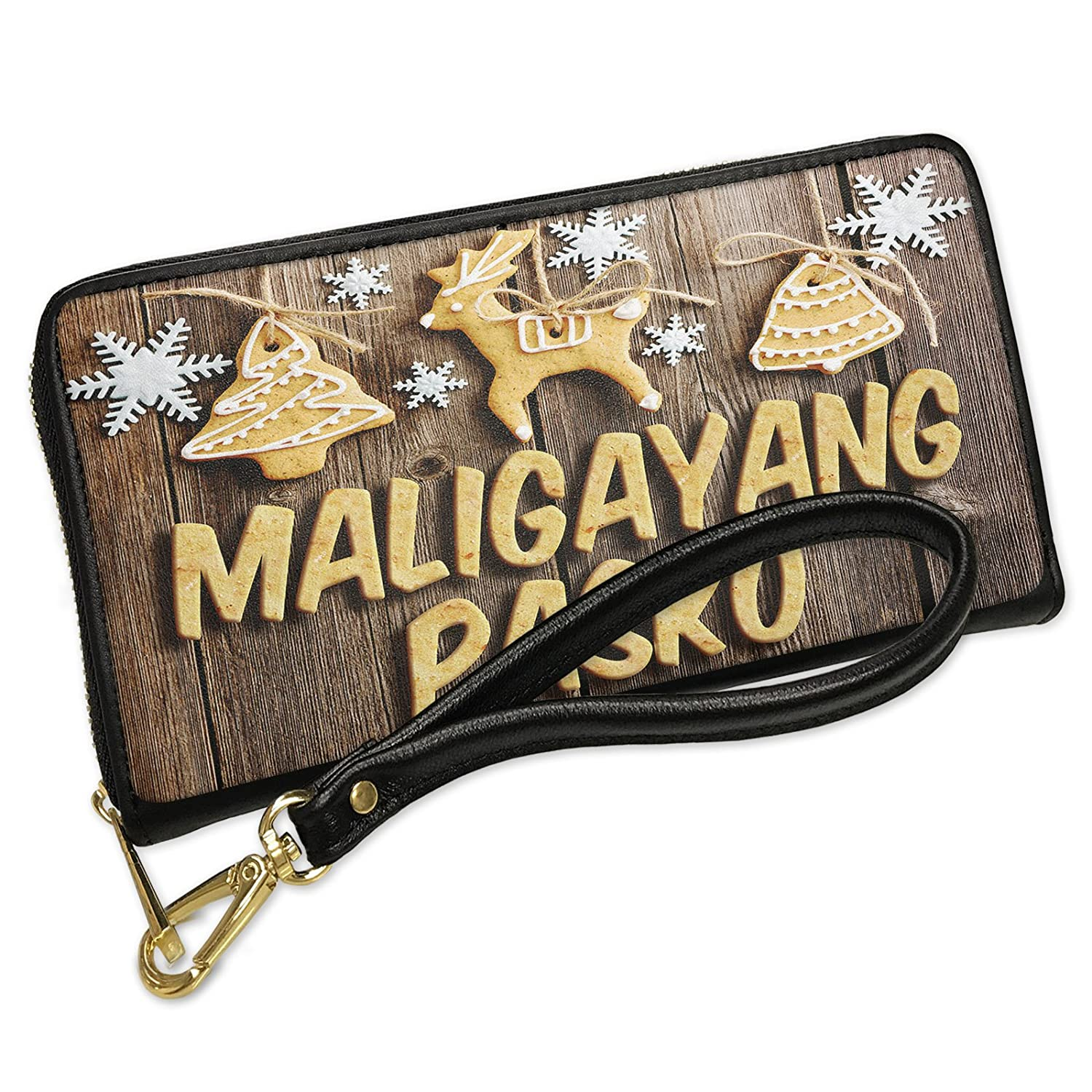 Merry Christmas In Tagalog.Wallet Clutch Merry Christmas In Tagalog From Philippines