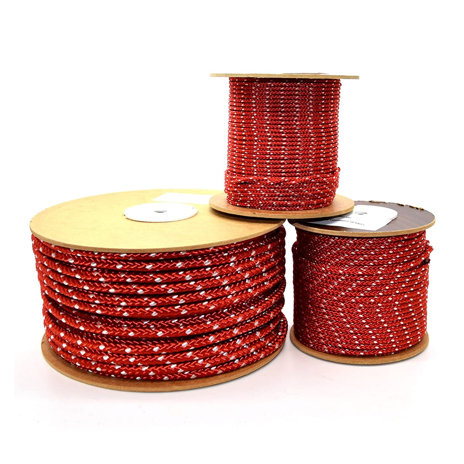 3mm Pull Starter Cord Rope for Lawnmower Chainsaw Hayter Briggs Honda Engine (Red, 2m) Sola