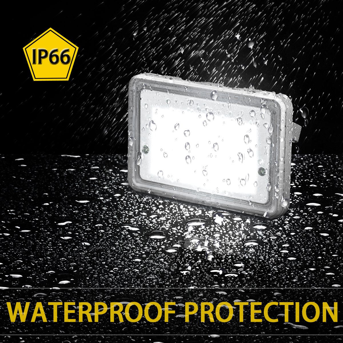 LED Flood Light Outdoor STASUN 150W 13500lm LED Security Lights with Wider Lighting Area Waterproof Built with CREE LED Chips 3000K Warm White Great for Yard Street Parking Lot