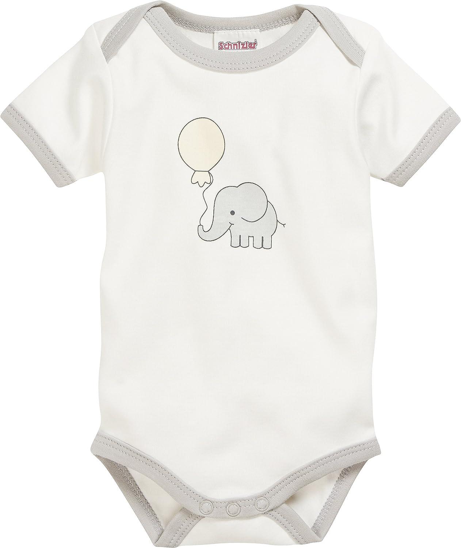 Schnizler Unisex Baby Pack of 2  Short Sleeve Bodysuits Elephant