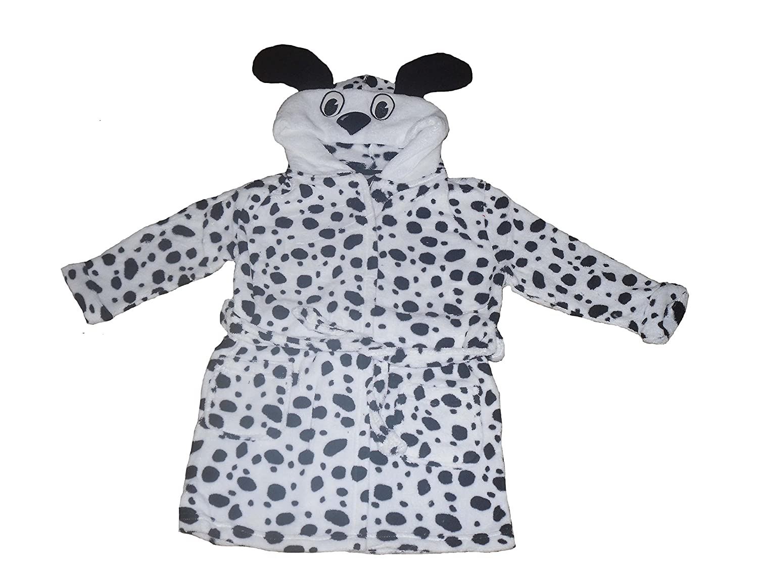M& O Clothing Girls Dressing Gown Robe Dalmation Super Soft 2-11 Years