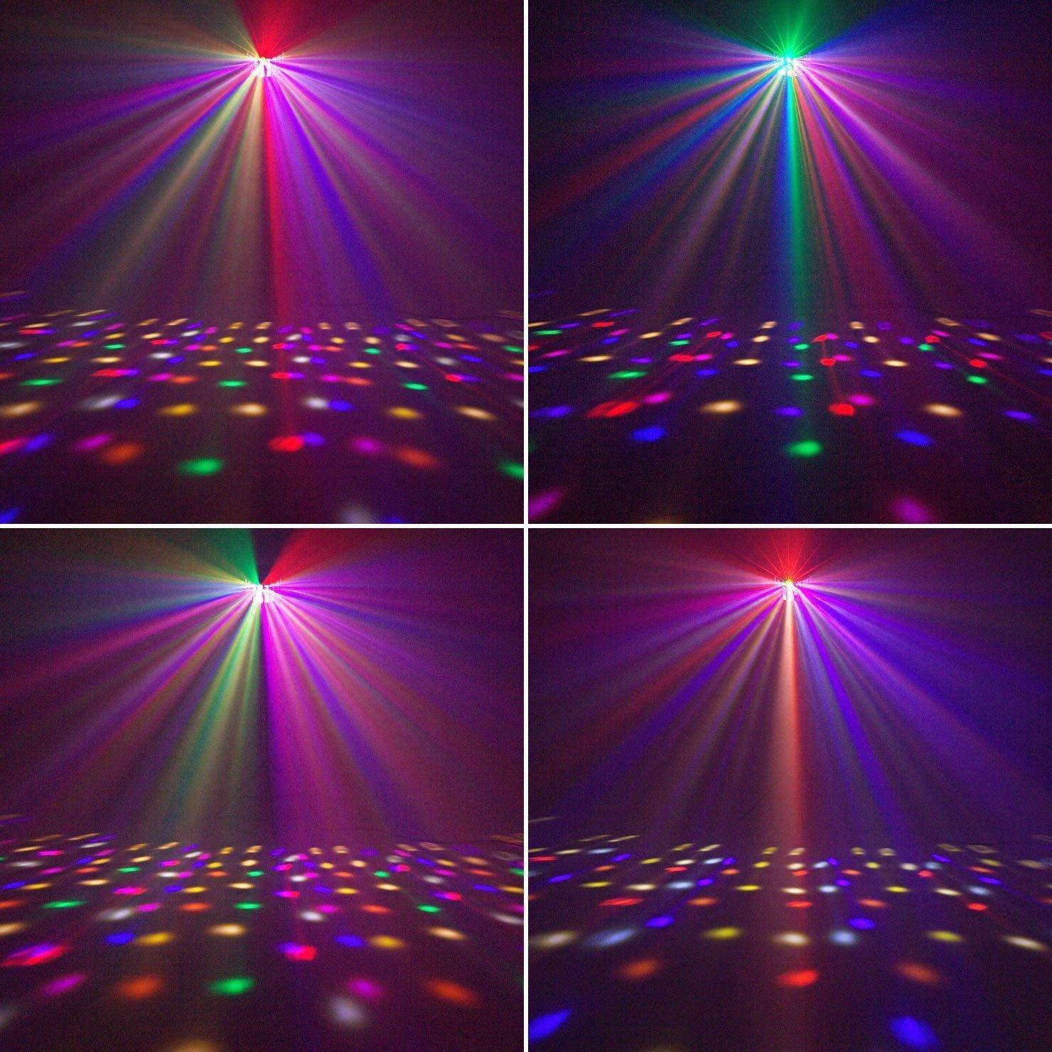 36LED Luz Estrobosc/ópica Eyourlife Luz de Escenario Luz Blanca DJ de Etapa Sonido Activado y Control Remoto Luz de Discoteca para Fiesta Boda Disco DJ Partido Bar EU Enchufe Carcasa Aluminio