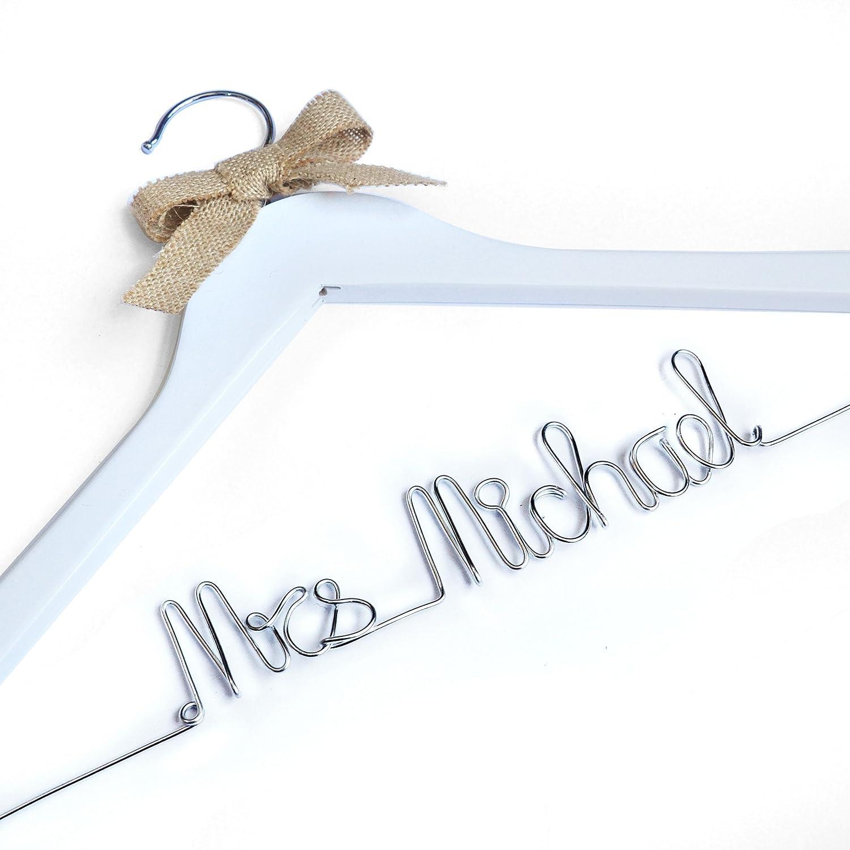 Personalisierte Hochzeit Kleiderbügel, Braut Kleid Kleiderbügel mit ...