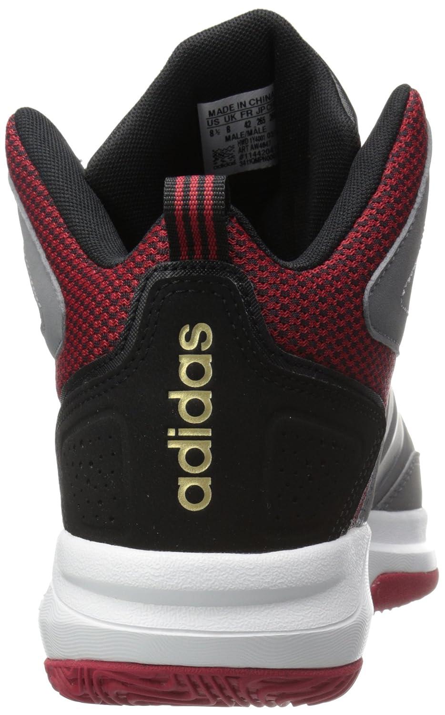 the best attitude 6dca3 c44a1 Amazon.com  adidas Mens Cloudfoam Thunder mid-m Basketball Shoe GreyBlack University Red 9.5 M US  Basketball