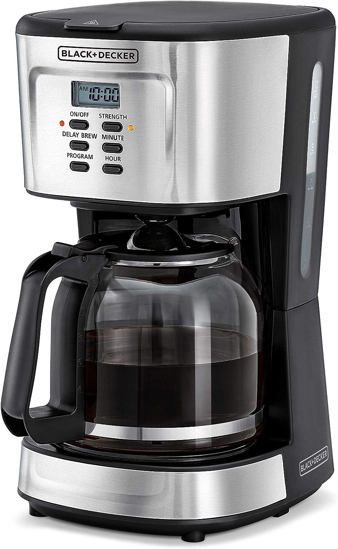 ماكينة تحضير القهوة من بلاك اند ديكر، بقوة 900 واط قابلة للبرمجة – (DCM85-B5)