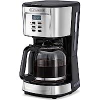 Black+Decker Programmable Coffee Maker 900W, Black/Silver, 12 cups, Dcm85-B5, 2 Year Warranty