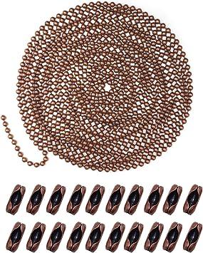 65,6 Feet Antique Bronze 1 mm Ball Chain 20 Meter