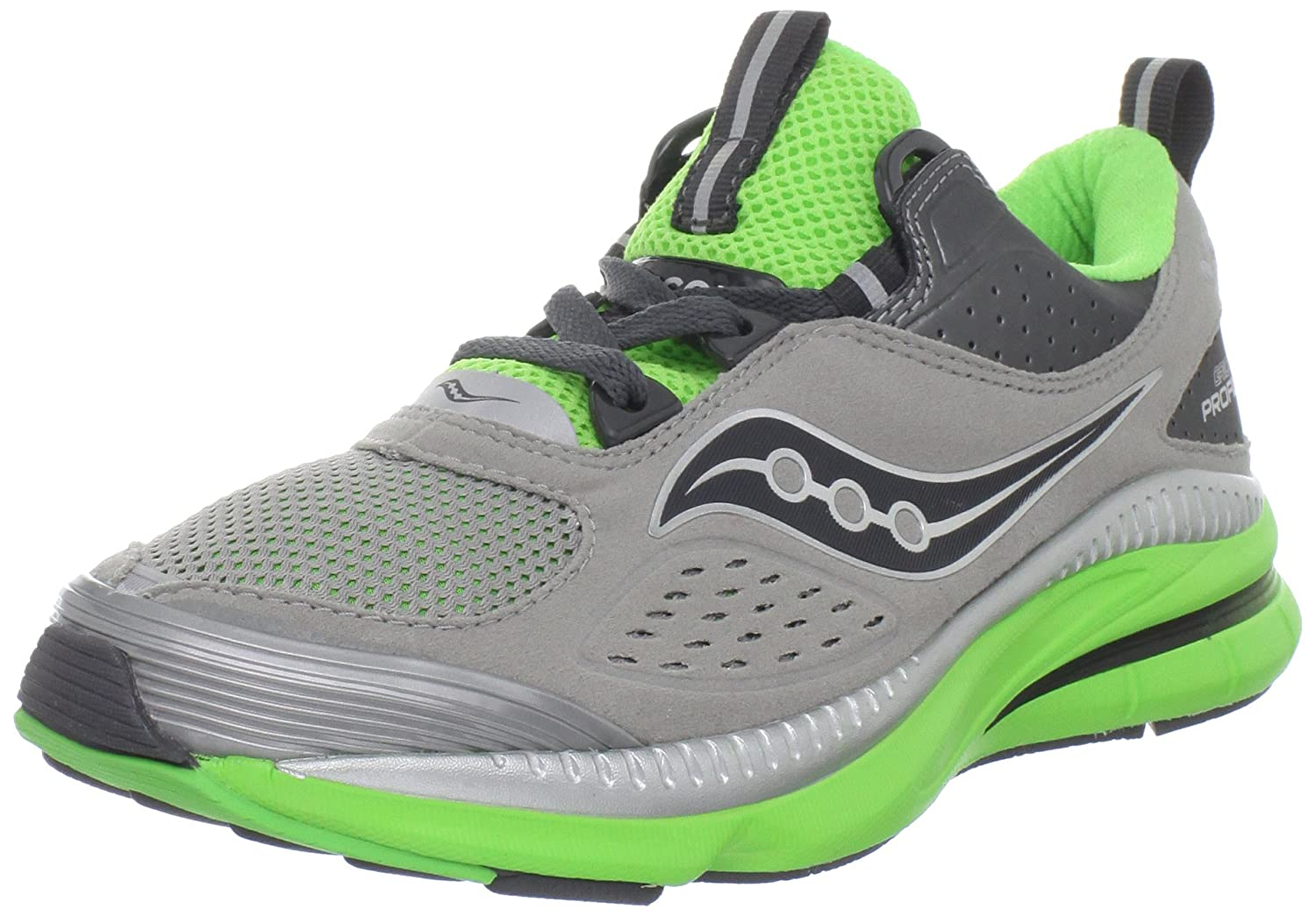 69669f8f4e6c0 Saucony Women's Grid Profile Running Shoe,Grey/Green,5 M US: Amazon ...