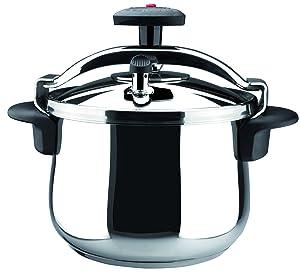 Magefesa 01OPSTABO08 Star B Stainless Steel Fast Pressure Cooker, 8-Quart