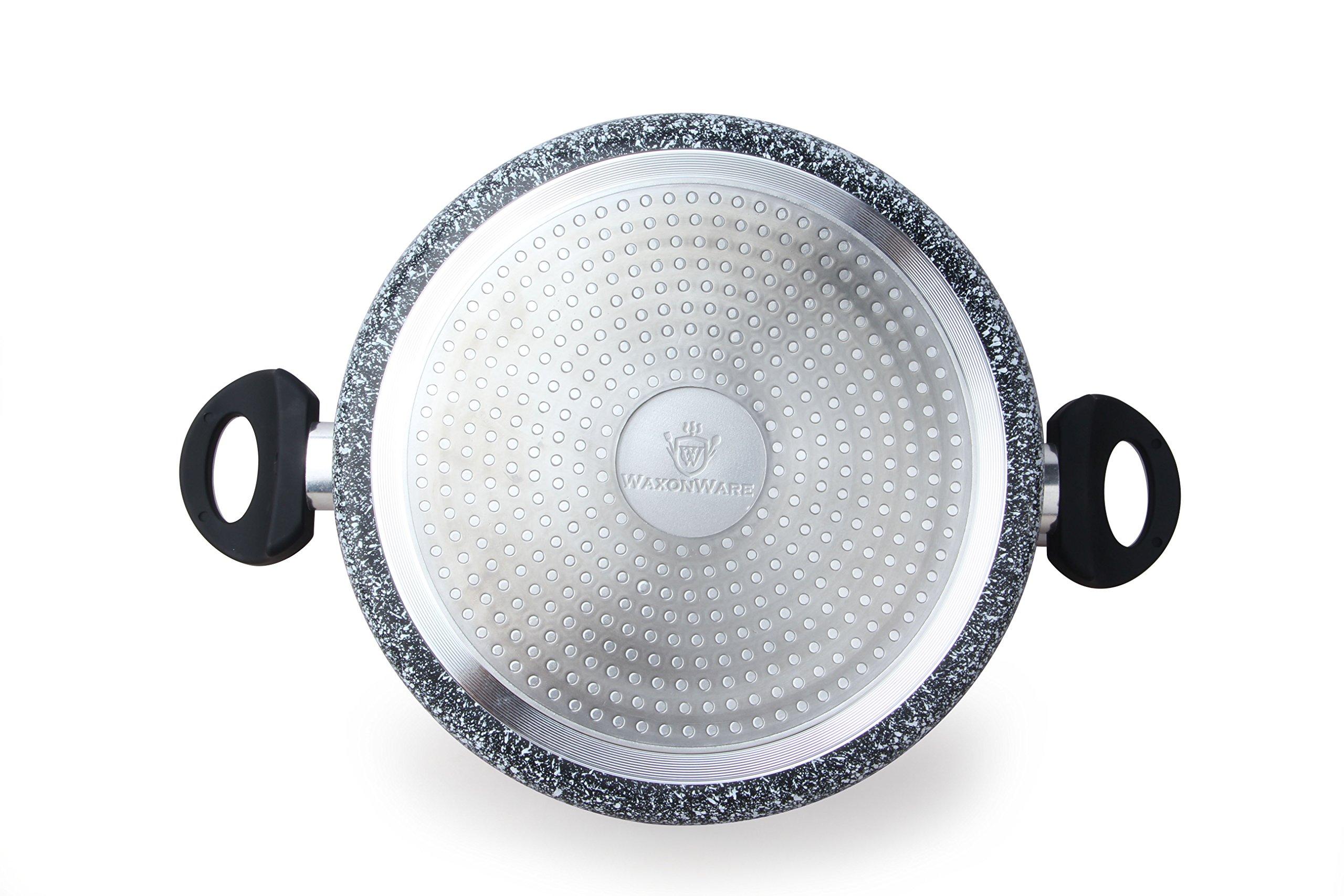 WaxonWare 5.25 Quart Ceramic Nonstick Dutch Oven Casserole Stockpot, Anti-Warp Non Toxic PTFE APEO PFOA Free Nonstick Pot With Lid, Induction Compatible, Dishwasher Safe Dutch Oven (STONETEC Series) by WaxonWare (Image #4)