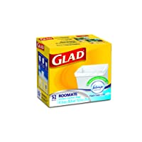 Glad Roomate Easy-Tie Kitchen Catchers Garbage Bags with Febreze Freshness, 52 Bags