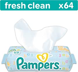 Pampers Fresh Clean Wipes - 12 x Packs of 64 (768 Wipes)