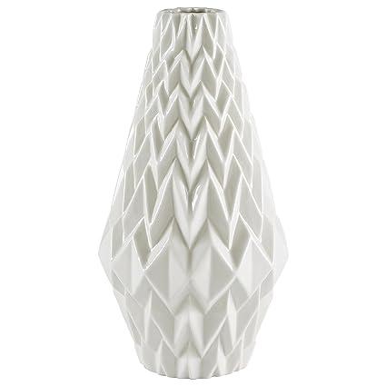 Amazon Rivet Modern Geometric Pattern Stoneware Vase 1225h