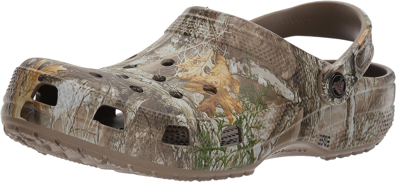 Crocs Men's and Women's Classic Realtree Clog | Camo Crocs for Men and Women